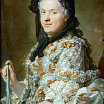 Part 4 Louvre - Maurice-Quentin de La Tour (1704-1788) -- Queen Marie Leczinska, wife of Louis XV of France (1703-1768)