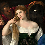 Part 4 Louvre - Titian -- Woman with a Mirror