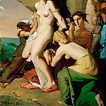 Théodore Chassériau -- Andromeda Chained to the Rock by the Mermaids, Part 4 Louvre