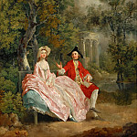 Part 4 Louvre - Thomas Gainsborough -- Conversation in a Park