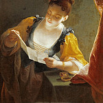 Jean Raoux -- Woman Reading a Letter, Part 4 Louvre