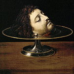 Andrea Solario -- Head of Saint John the Baptist, Part 4 Louvre