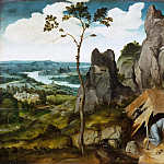 Joachim Patinir -- Landscape with Saint Jerome, Part 4 Louvre