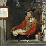 Gabriel Metsu -- The Apothecary , Part 4 Louvre