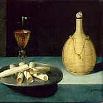 Lubin Baugin -- Still Life with Wafers , Part 4 Louvre