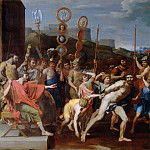 Nicolas Poussin -- Camille delivers the Schoolmaster of Falerii to his pupils, Part 4 Louvre