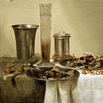 Willem Claesz. Heda -- Still Life with Silver Goblets, Part 4 Louvre