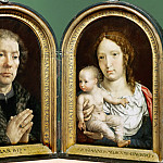Part 4 Louvre - Jan Gossaert (c. 1478-1532) -- Carondelet Diptych: Jean Carondelet and the Virgin and Child