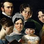 Claude-Marie Dubufe -- The Dubufe family in 1820, Part 4 Louvre