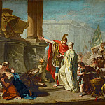 Part 4 Louvre - Giovanni Battista Pittoni the Younger (1687-1767) -- Polyxena Led as a Sacrifice to the Ghost of Achilles