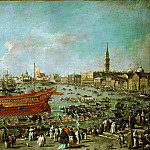 Francesco Guardi -- Doge in the Bucintoro on His Way to the Lido for the Ceremony of Wedding the Adriatic , Part 4 Louvre