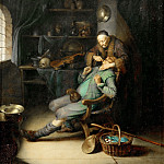 Gerrit Dou -- The Dentist, Part 4 Louvre