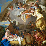 Giovanni Benedetto Castiglione -- Adoration of the Shepherds, Part 4 Louvre