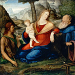 Jacopo de'Barbari -- Virgin and Child flanked by Saints John the Baptist and Anthony Abbot , Part 4 Louvre