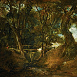 John Constable -- Helmingham Dell, Suffolk, Part 4 Louvre