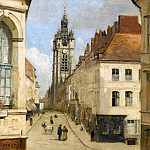 Part 4 Louvre - Jean-Baptiste-Camille Corot -- The belfry at Douai