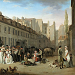 Part 4 Louvre - Louis Léopold Boilly (1761-1845) -- Arrival of the Stagecoach in the Courtyard of the Messageries, rue Notre-Dame-des-Victoires, Paris