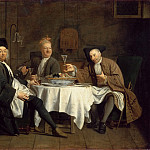 Etienne Jeaurat -- The Poet Alexis Piron with his Friends Jean Joseph Vadé and Charles Collé , Part 4 Louvre