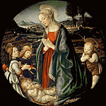 Part 4 Louvre - Sandro Botticelli (1444 or 1445-1510) -- Virgin Adoring the Child with John the Baptist and Two Angels