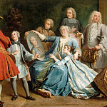 Jacques Dumont -- Madame Mercier surrounded by her family, Part 4 Louvre