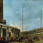 Francesco Guardi -- Festival of Corpus Christi in the Piazza San Marco, Venice, Part 4 Louvre