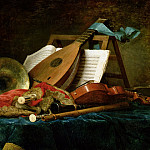 Part 4 Louvre - The Attributes of Music, 1770 (oil on canvas)Title: -- Vallayer-Coster, Anne (1744-1818)Primary creator: