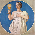 Jean-Auguste-Dominique Ingres -- Faith , study for a stained-glass window for the Chapelle Saint-Ferdinand, Part 4 Louvre