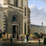 Etienne Bouhot -- View of the main entrance of the Musée Royal , Part 4 Louvre