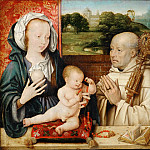 Joos van Cleve -- Virgin and Child with Saint Bernard, or The Lactation of Saint Bernard, Part 4 Louvre