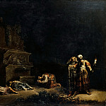 Leonard Bramer -- Discovery of the Bodies of Pyramus and Thisbe, Part 4 Louvre