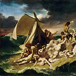 Théodore Géricault -- Raft of the Medusa, second painted sketch , Part 4 Louvre