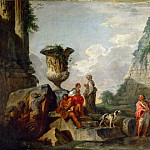 Part 4 Louvre - Giovanni Paolo Panini -- Ancient ruins with the pyramid of Caius Cestius