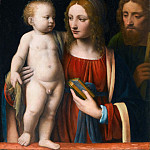 Part 4 Louvre - Bernardino Luini -- The Holy Family