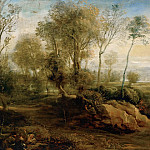Part 4 Louvre - Peter Paul Rubens -- Landscape with Bird Catcher
