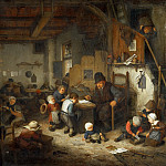Part 4 Louvre - Adriaen van Ostade -- The Schoolmaster