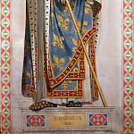 Part 4 Louvre - Jean-Auguste-Dominique Ingres -- Saint Louis, King of France, study for a stained-glass window for the Chapelle Saint-Ferdinand; one of fourteen figures of saints
