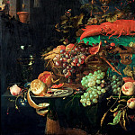 Jan Davidsz. de Heem -- Still Life with Fruit, Lobster, and Goldfinch, detail, Part 4 Louvre