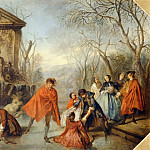 Nicolas Lancret -- Winter, Part 4 Louvre