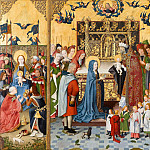 Master of the Holy Kinship the younger -- Retable of the Seven Joys of the Virgin, Part 4 Louvre