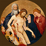 Part 4 Louvre - Attributed to Jean Malouel -- Large Round Pieta