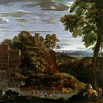 Domenichino -- Landscape with Flight into Egypt, Part 4 Louvre