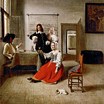 Pieter de Hooch -- The Drinker, Part 4 Louvre