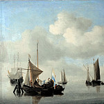 Willem van de Velde II -- Ships in a Calm Sea, Part 4 Louvre