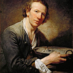 Jean-Baptiste Greuze -- Portrait of a Man , Part 4 Louvre