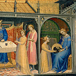 Lorenzo Monaco -- Herod's banquet; Salome with the head of the Baptist, Part 4 Louvre