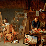 David Ryckaert III -- Painters in the Studio, Part 4 Louvre