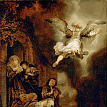 Rembrandt van Rijn -- Archangel Raphael Leaving the Family of Tobit, Part 4 Louvre