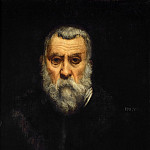 Jacopo Tintoretto -- Self Portrait in Old Age, Part 4 Louvre