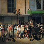 Louis Léopold Boilly -- Entrance of the Theater of L'Ambigu-Comique Before a Free Performance, Part 4 Louvre