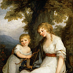 Angelica Kauffmann -- Baroness Juliana von Krüdener and Her Son, Part 4 Louvre
